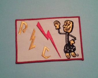 Willie Wiredhand  Electric Power Company Rural Electric REC Original Logo Patch Old School Patch - Vintage