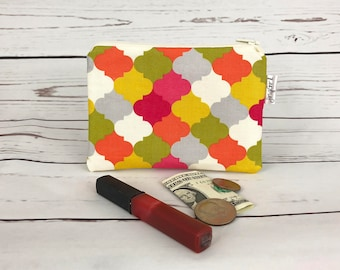 Coin Purse  Change Purse Small Cosmetic Pouch Makeup BagZipper Pouch Zipper Pouch Zipper Wallet Business Card Holder Handmade Gifts for Her
