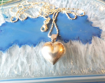 Sterling Silver Heart Pendant with Sterling Chain