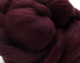 4 oz Merino Wool Top - Merlot