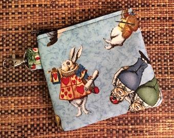 Clippyz/Change Purse Alice In Wonderland Print