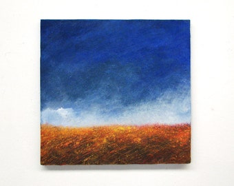 Modern art, original painting, abstract landscape, modern wall art, landscape painting, abstract painting, square painting, modern landscape