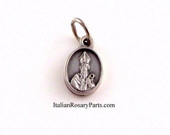 Saint Patrick of Ireland Religious Medal Bracelet Charm | Italian Rosary Parts