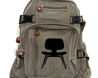 Backpack, Canvas Backpack, Eames Chair, Rucksack, Small Backpack, Diaper Bag, Hipster Backpack, Mid Century Modern, Men's Backpack