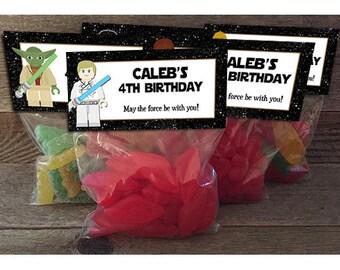 Star Wars Birthday, Star Wars Favors, Jedi Birthday, Star Wars Favor Bags, Star Wars Party Favors, Star Wars Treat Bags, Jedi Favors