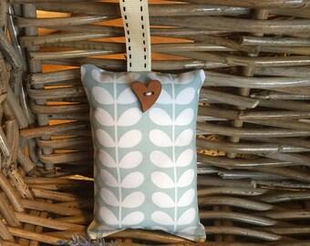Orla Kiely Mini Stem ~ Duck Egg Blue ~ Hanging French Lavender Pillow/ Lavender Bag