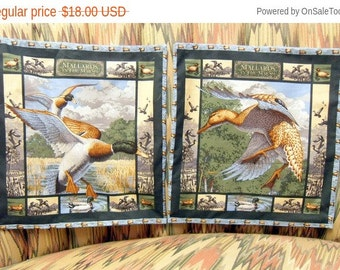 Sale Throw Pillow Covers, Mallards in the Marsh Print, Set of 2