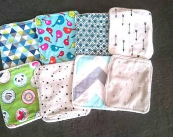 Set of 8 wipes washable baby boy