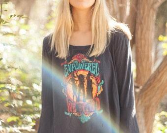 Bell Sleeve shirt, vintage band tee, Stevie nicks tee, Debbie harry tee, Janis Joplin tee, colorful vintage tee, bell sleeve blouse