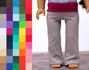 Fits like American Girl Doll Clothes - Yoga Pants, You Choose Colors   18 Inch Doll Clothes