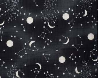 Kokka Japanese double gauze constellation fabric - Trefle - 1/2 YD