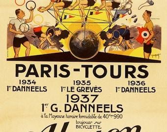 Alcyon Paris-Tours Bicycle Poster (#0912) 6 sizes
