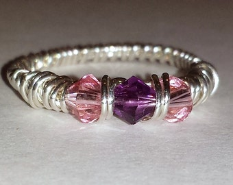Birthstone Mothers Ring Single Row