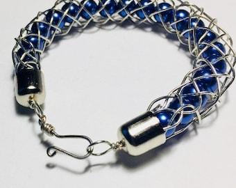 Kumihimo Braided Bracelet w/Captured Beads