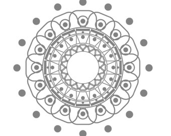 Color your own mandala solar by mandalapaz!