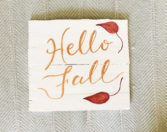 Hello Fall | Reclaimed Wood Sign