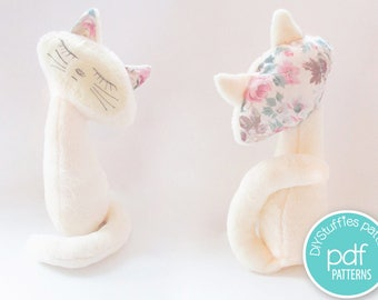 Cat Soft toy pattern, PDF instrctions, Christmas gift.