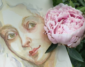 Portrait of a Lady by Renae Taylor (original painting)