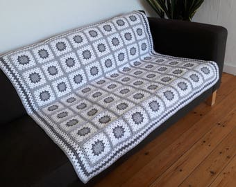 Throw Blanket Sofa Throw Blanket Grey Throw Blanket White Throw Blanket White Blanket Grey Sofa Throw FREE SHIPPING