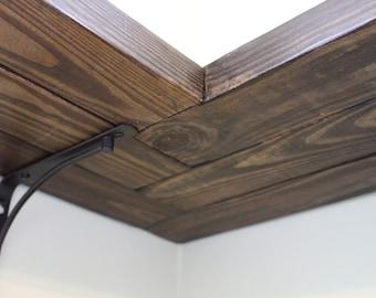 "Corner Shelf w/ Herringbone Design (Length: 15"" - 29"")"