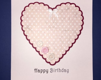 Birthday Card with Heart