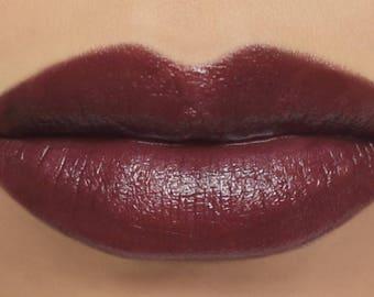 """Vegan Mineral Lipstick - """"Empress"""" dark red burgundy lipstick"""