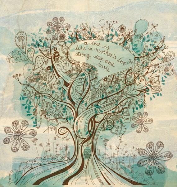 Mother's love - Digital Download Paula Mills Illustration