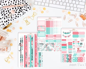 Llama Llove HORIZONTAL Weekly Kit // 130+ Matte Planner Stickers // Perfect for your Erin Condren Life Planner // WKH0970