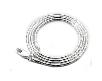 28 inch Sterling Silver 2mm Snake Chain with Lobster Clasp
