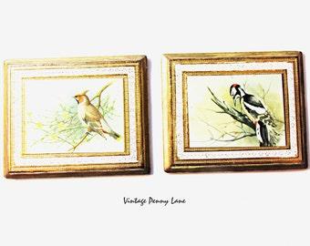 Vintage Florentine Bird Decoupage Wood Wall Art