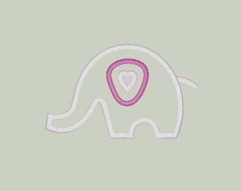 Love Elephant Applique Design