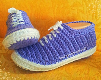 Crochet Sneakers pattern in English only