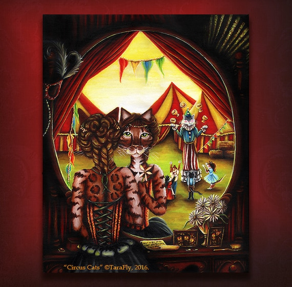 Circus Cats 8x10 Fine Art Print