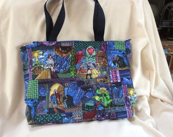 Beauty and the Beast Medium Size Tote Bag