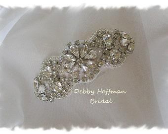 Wedding Hair Comb, Rhinestone Crystal Beaded Bridal Hair Comb, Rhinestone Hair Comb, Jeweled Head Piece, Bridal Crystal Headband, No. 4066HB