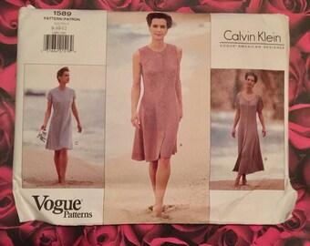 90's Vintage Calvin Klein Vogue Sewing Pattern