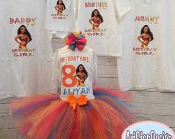 moana familly shirts,FREE SHIPPING,family shirts,moana shirts,birthday shirts,birthday family,birthday girl,birthday party moana,colorful