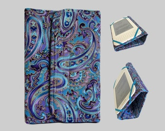 Standable Kindle Cover, Kindle Fire Case, Nook Cover, Kobo Case, Nexus 7 Cover, Kindle Fire HDX, iPad Mini, Dell Venue Purple Paisley