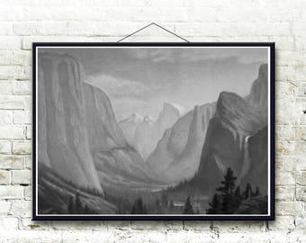 Yosemite Valley, Yosemite National Park 1873 Fine Art Print