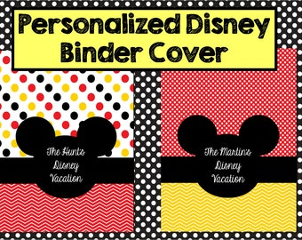 Personalized Disney Planning Binder Cover