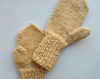 Baby alpaca silk mittens