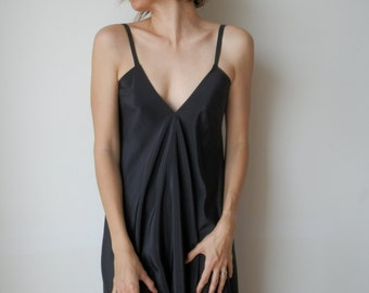 Black backless dress. Long maxidress. Low back dress. Party, cocktail, prom. One size fits many.
