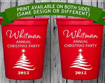 Christmas Party, Custom Cup, Personalized Plastic Cups, Christmas Cups, Personalized Stadium Cups, Holiday Cups, Christmas Cups, Custom Cups