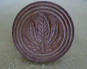 Antique 1800's Wooden Butter Mold