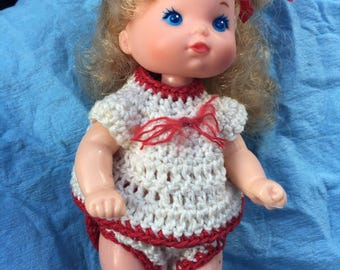 1976 Heart family baby blonde hair handmade outfit