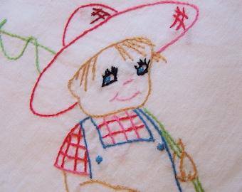 adorable little boy kitchen towel