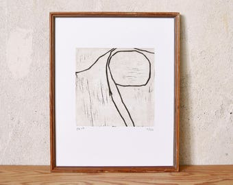 position finding 3 · original linocut on paper · handmade and signed · limited