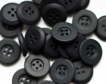 Dark Navy Vintage Buttons 4 Hole Raised Edge 19mm New Old Stock Very Stylish High Quality Rochester Button Company