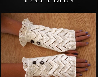 Fingerless Gloves Knitting Pattern, Womens Gloves, Hand Warmers, Texting Gloves, Boho Chic, Steam Punk, Easy Knitting Pattern, pdf Pattern