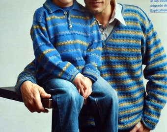 Tutorial 2 matching father and son sweaters